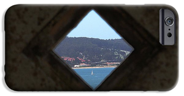 Sailboat Ocean Photographs iPhone Cases - View of Freedom iPhone Case by Ty Helbach