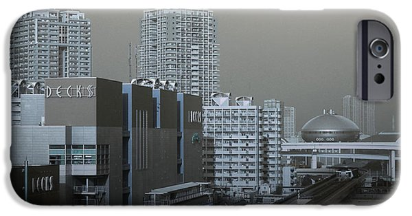 Tokyo iPhone Cases - View of Modern Tokyo iPhone Case by Naxart Studio
