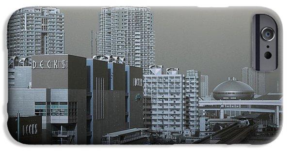 Metropolis iPhone Cases - View of Modern Tokyo iPhone Case by Naxart Studio