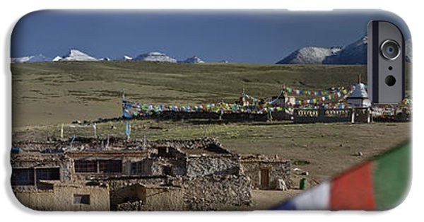 Tibetan Buddhism iPhone Cases - View Of Mount Kailash From Chiu iPhone Case by Phil Borges