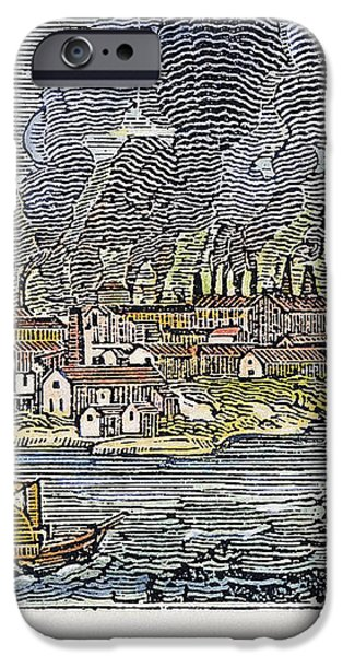 VIEW OF PITTSBURGH, 1836 iPhone Case by Granger