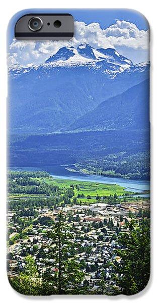 View of Revelstoke in British Columbia iPhone Case by Elena Elisseeva