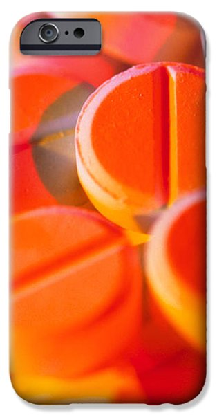 View Of Several Scored Paracetamol Tablets iPhone Case by Steve Horrell
