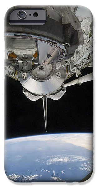 View Of Space Shuttle Discovery iPhone Case by Stocktrek Images