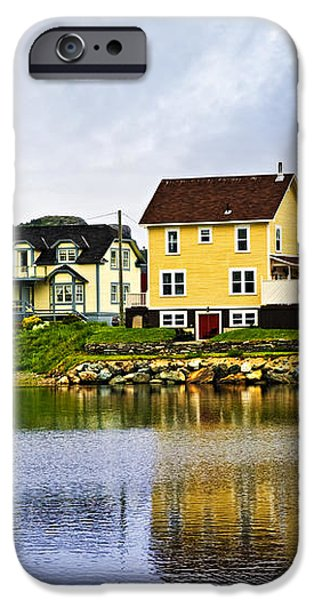 Village in Newfoundland iPhone Case by Elena Elisseeva