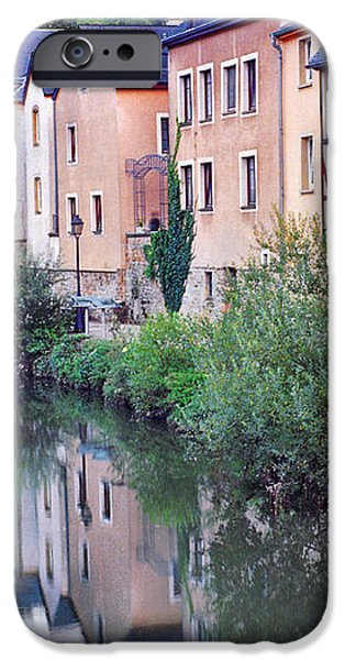 Village Reflections in Luxembourg I iPhone Case by Greg Matchick