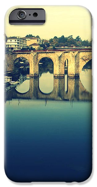 Villeneuve sur Lot's River iPhone Case by Nomad Art And  Design