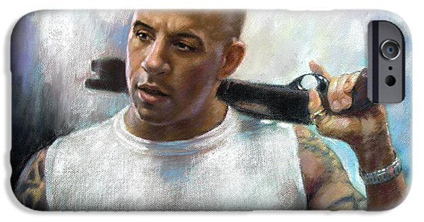 Stray iPhone Cases - Vin Diesel iPhone Case by Ylli Haruni