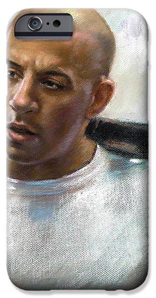 Vin Diesel iPhone Case by Ylli Haruni