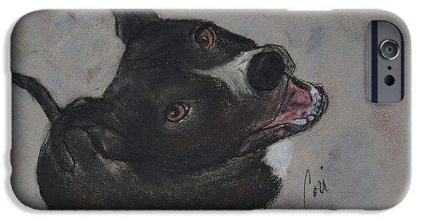 Puppies iPhone Cases - Vinnie iPhone Case by Cori Solomon