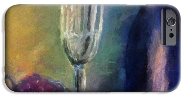 Wine Reflection Art iPhone Cases - Vino iPhone Case by Michelle Calkins