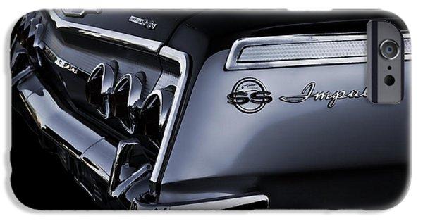 Chrome iPhone Cases - Vintage 62 Impala SS iPhone Case by Douglas Pittman