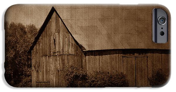 Old Barns iPhone Cases - Vintage Barn 2 iPhone Case by Marjorie Imbeau