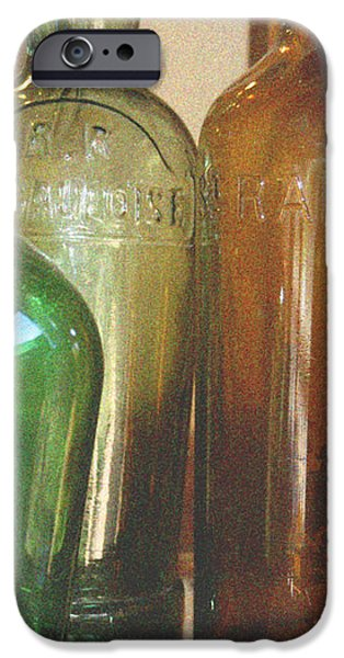 Vintage bottles iPhone Case by Nomad Art And  Design