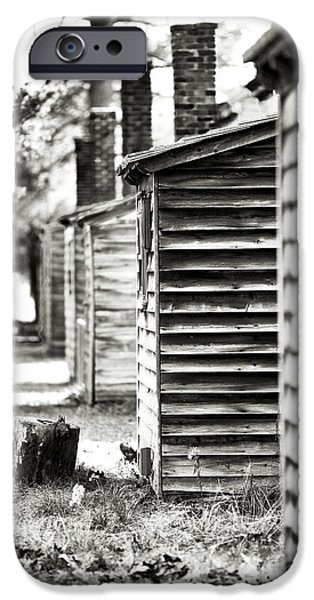 Vintage Cabins iPhone Case by John Rizzuto