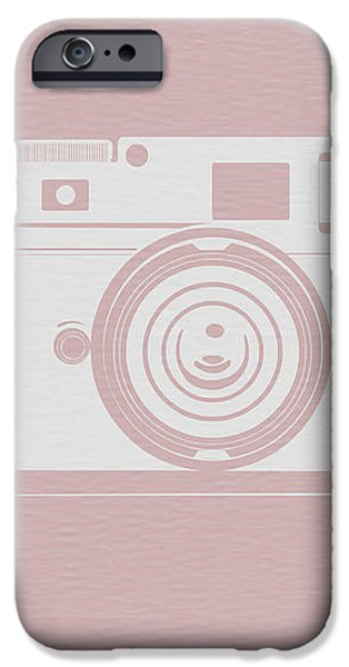 Vintage Camera Poster iPhone Case by Naxart Studio