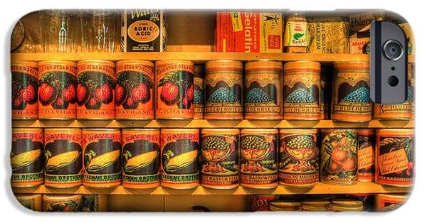 Buy Goods iPhone Cases - Vintage Canned Goods - General Store Vintage Supplies - nostalgia iPhone Case by Lee Dos Santos