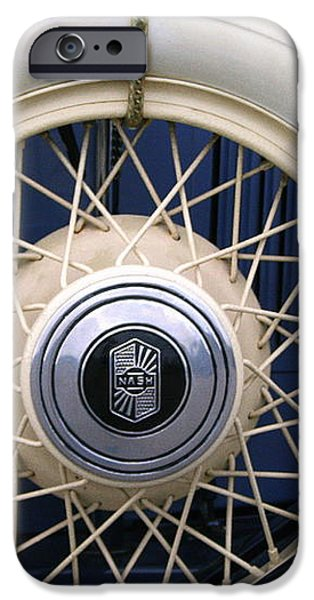 Vintage Nash Tire iPhone Case by Kay Novy