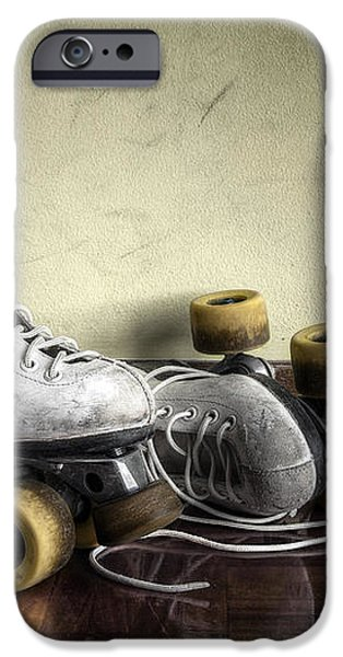Vintage roller skates  iPhone Case by Carlos Caetano