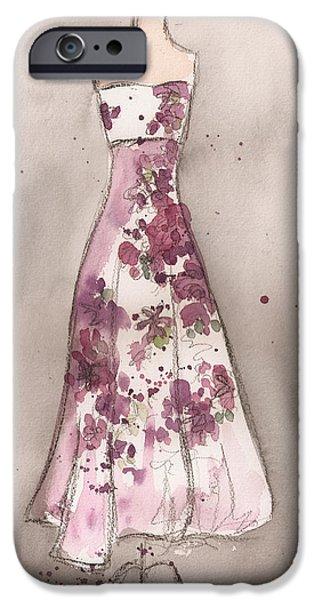 Vintage Romance Dress iPhone Case by Lauren Maurer
