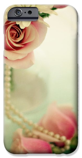 Apothecary iPhone Cases - Vintage Rose iPhone Case by Lana Trussell
