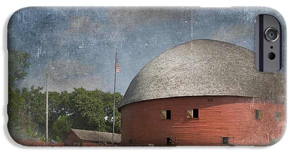 Old Glory iPhone Cases - Vintage Round Barn iPhone Case by Betty LaRue