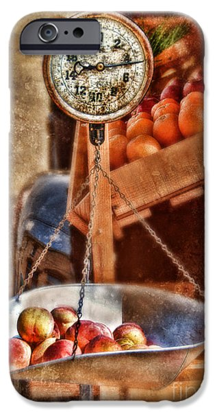 Farmstand iPhone Cases - Vintage Scale at Fruitstand iPhone Case by Jill Battaglia