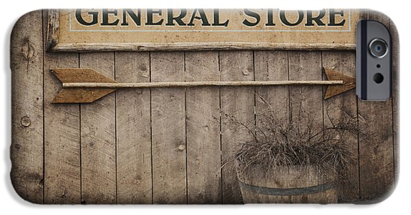 Run Down iPhone Cases - Vintage sign General Store iPhone Case by Jane Rix