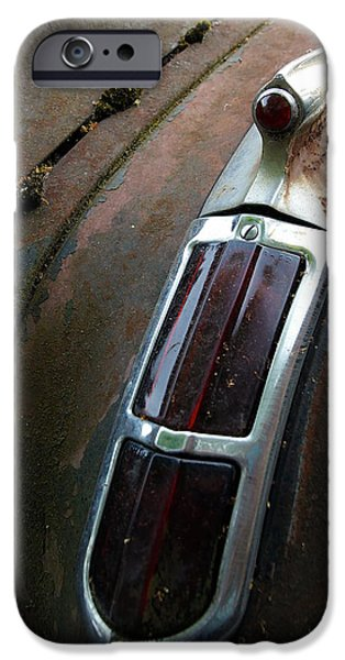 Rust iPhone Cases - Vintage Tail Light iPhone Case by Steve McKinzie