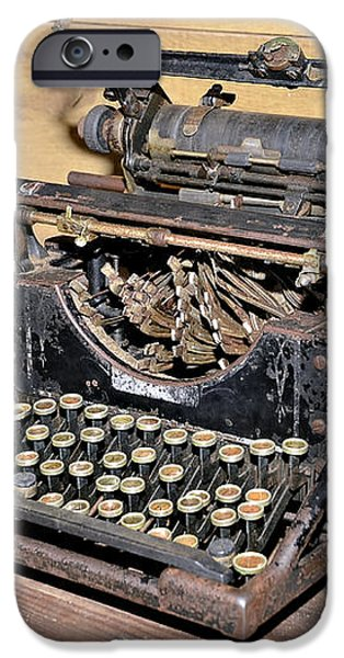 Vintage Typewriter iPhone Case by Susan Leggett