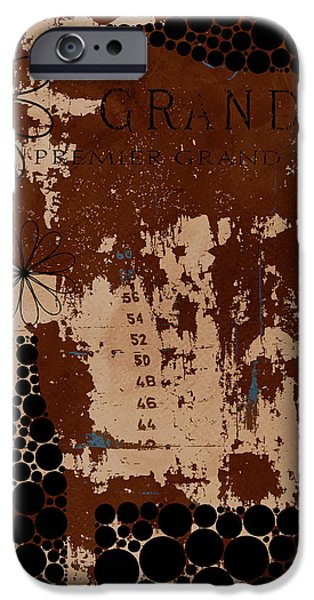 Wine Deco Art iPhone Cases - Vintage Wine iPhone Case by Frank Tschakert