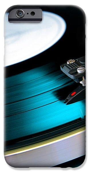 Vinyl Record iPhone Case by Carlos Caetano