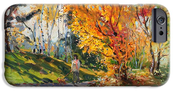 Toronto Paintings iPhone Cases - Viola in a Nice Autumn Day  iPhone Case by Ylli Haruni