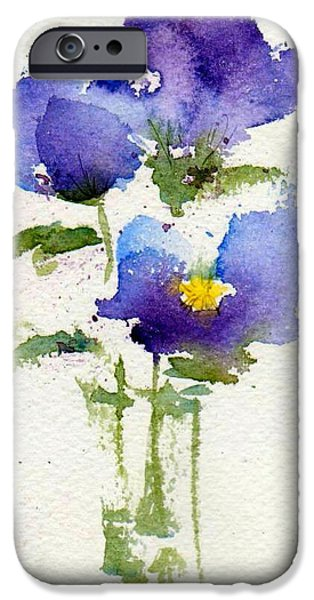 Pansy iPhone Cases - Violets iPhone Case by Anne Duke