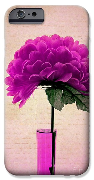 Flower Still Life Prints iPhone Cases - Violine iPhone Case by Aimelle