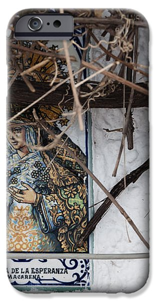 Virgin Mary of Hope iPhone Case by Agnieszka Kubica