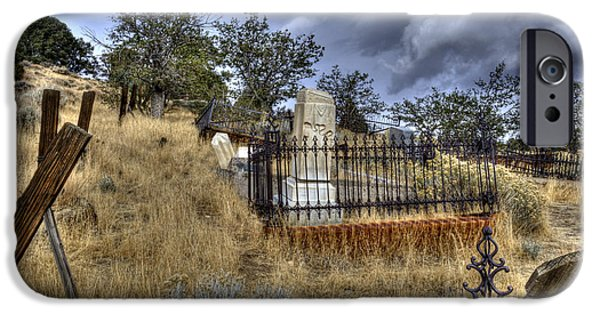 Cemetary iPhone Cases - Virginia City Cemetary iPhone Case by Dianne Phelps