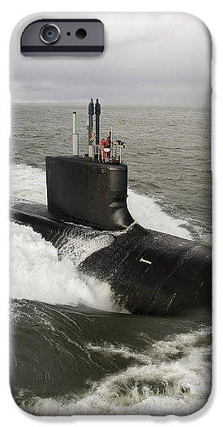Virginia-class Attack Submarine iPhone Case by Stocktrek Images