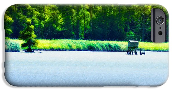 Yorktown Virginia iPhone Cases - Virginia Tides iPhone Case by Bill Cannon