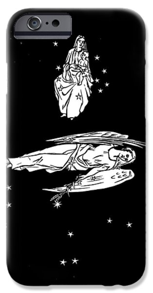 Virgo And Coma Constellations, Artwork iPhone Case by