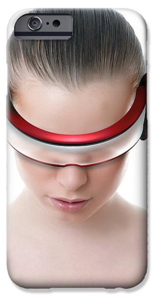 Virtual iPhone Cases - Virtual Reality Headset iPhone Case by Victor Habbick Visions