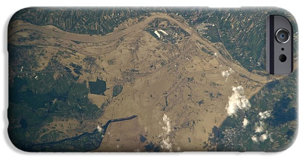 River Flooding iPhone Cases - Vistula River Flooding, Southeastern iPhone Case by NASA/Science Source