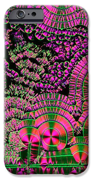 Vitamin C Crystals Spikeberg iPhone Case by M I Walker