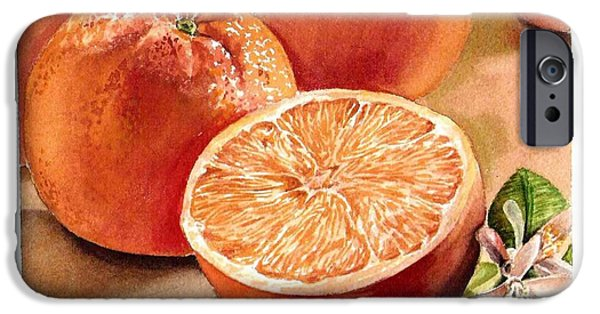 Printmaking Paintings iPhone Cases - Vitamin C iPhone Case by Irina Sztukowski
