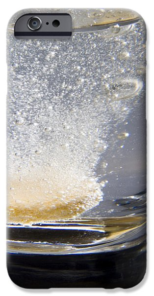 Effervescence iPhone Cases - Vitamin Tablet Dissolving In Water iPhone Case by Sheila Terry