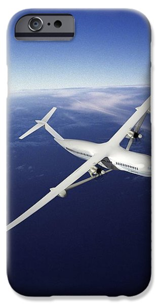 21st iPhone Cases - Volt Future Aircraft, Artwork iPhone Case by Nasaboeing