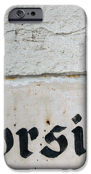 Vorsicht - caution - old german sign iPhone Case by Matthias Hauser