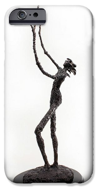 Nudes Sculptures iPhone Cases - Votary of the Rain a sculpture by Adam Long iPhone Case by Adam Long