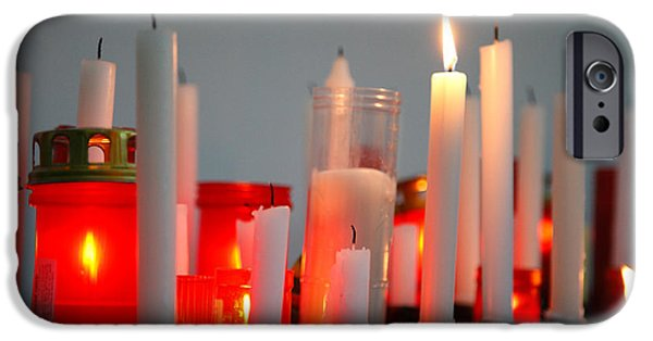 Interior Still Life iPhone Cases - Votive candles iPhone Case by Gaspar Avila