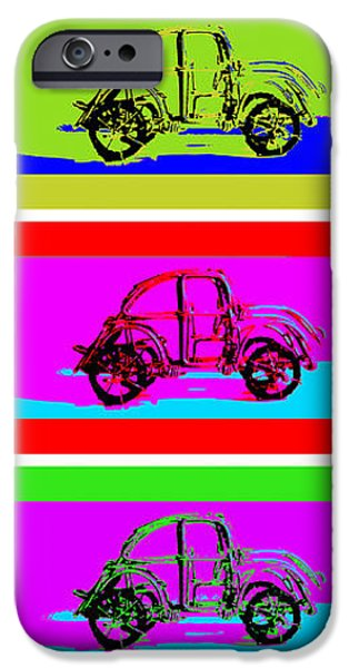VW Beatle 1b iPhone Case by Mauro Celotti